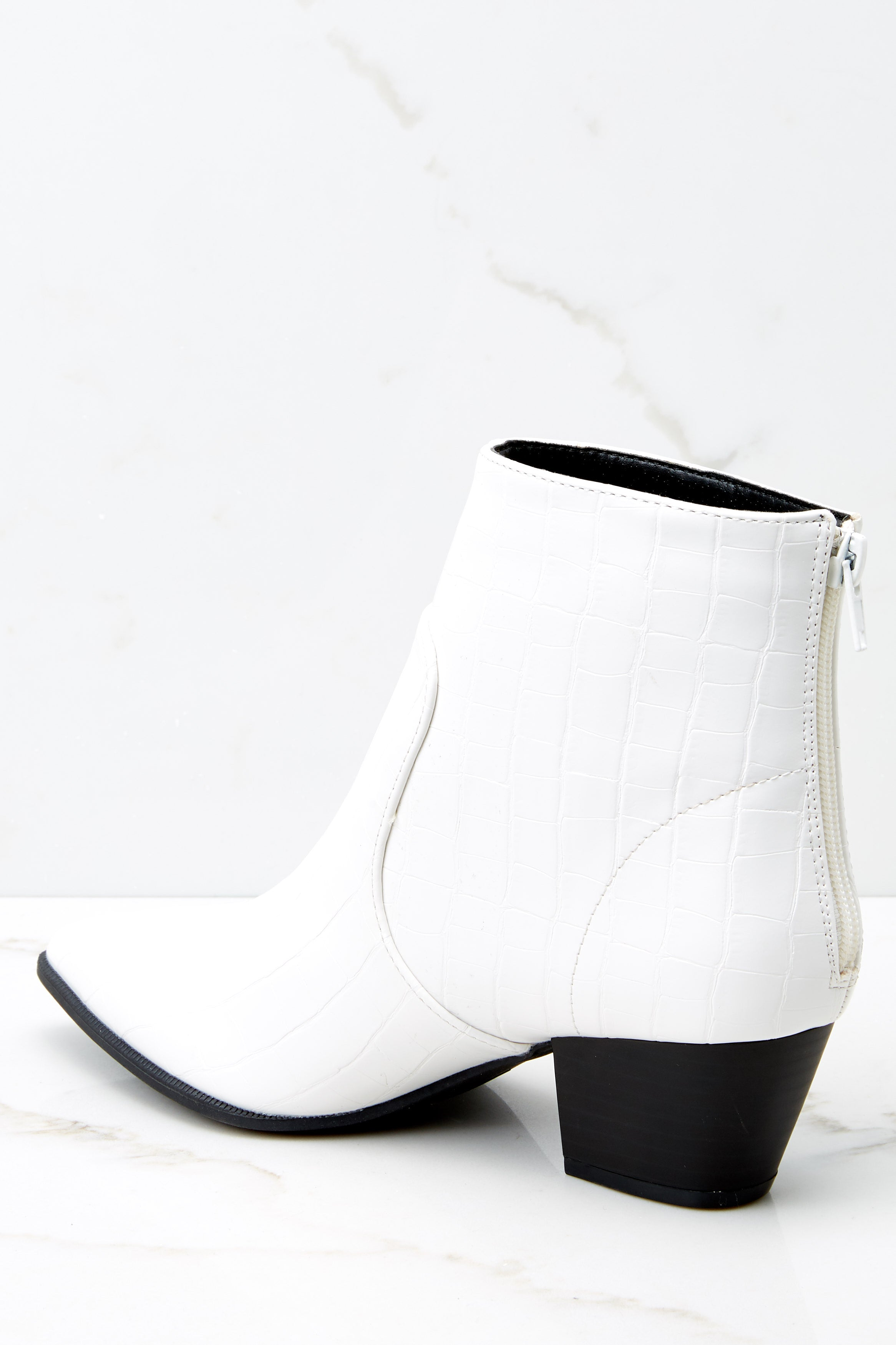 Crocodile Leather Ankle Booties