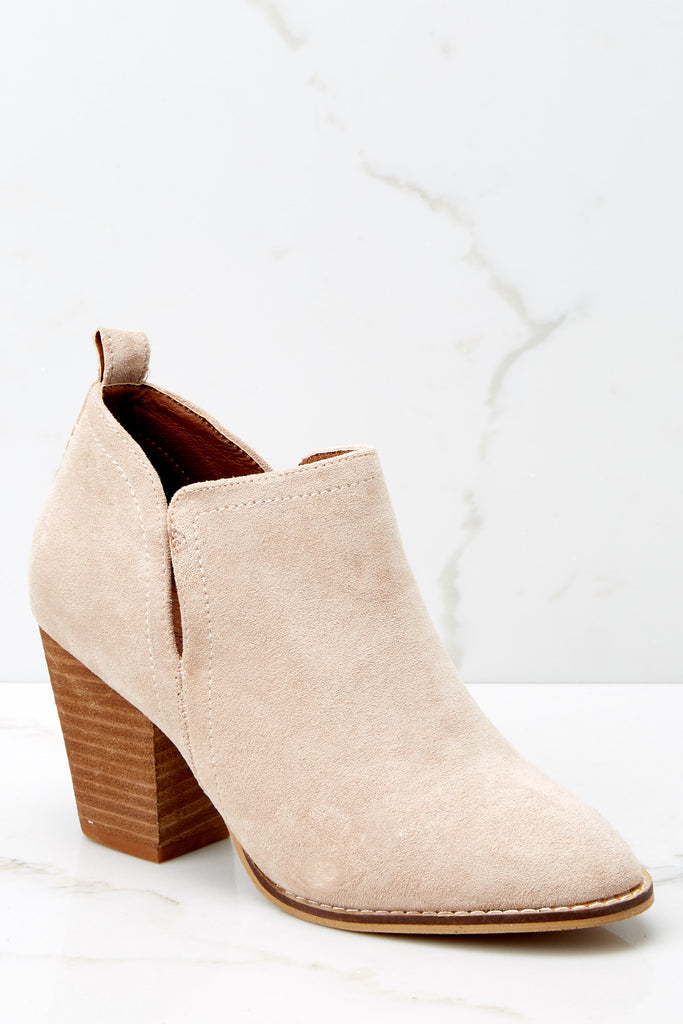 4 Make A Path Taupe Ankle Booties at reddressboutique.com