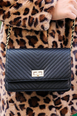7 My Obsession Black Purse at reddressboutique.com