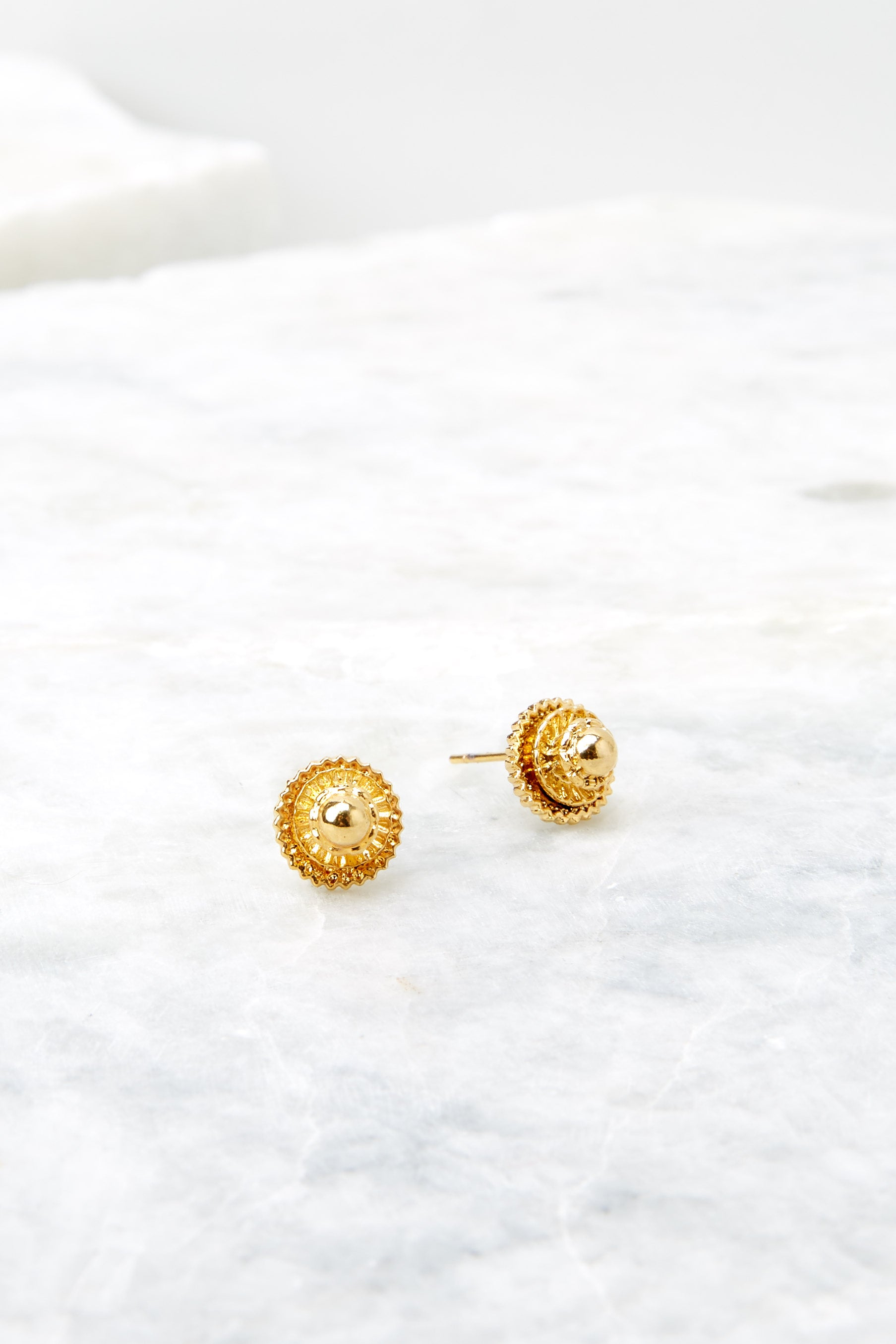 Magnolia Gold Stud Earrings