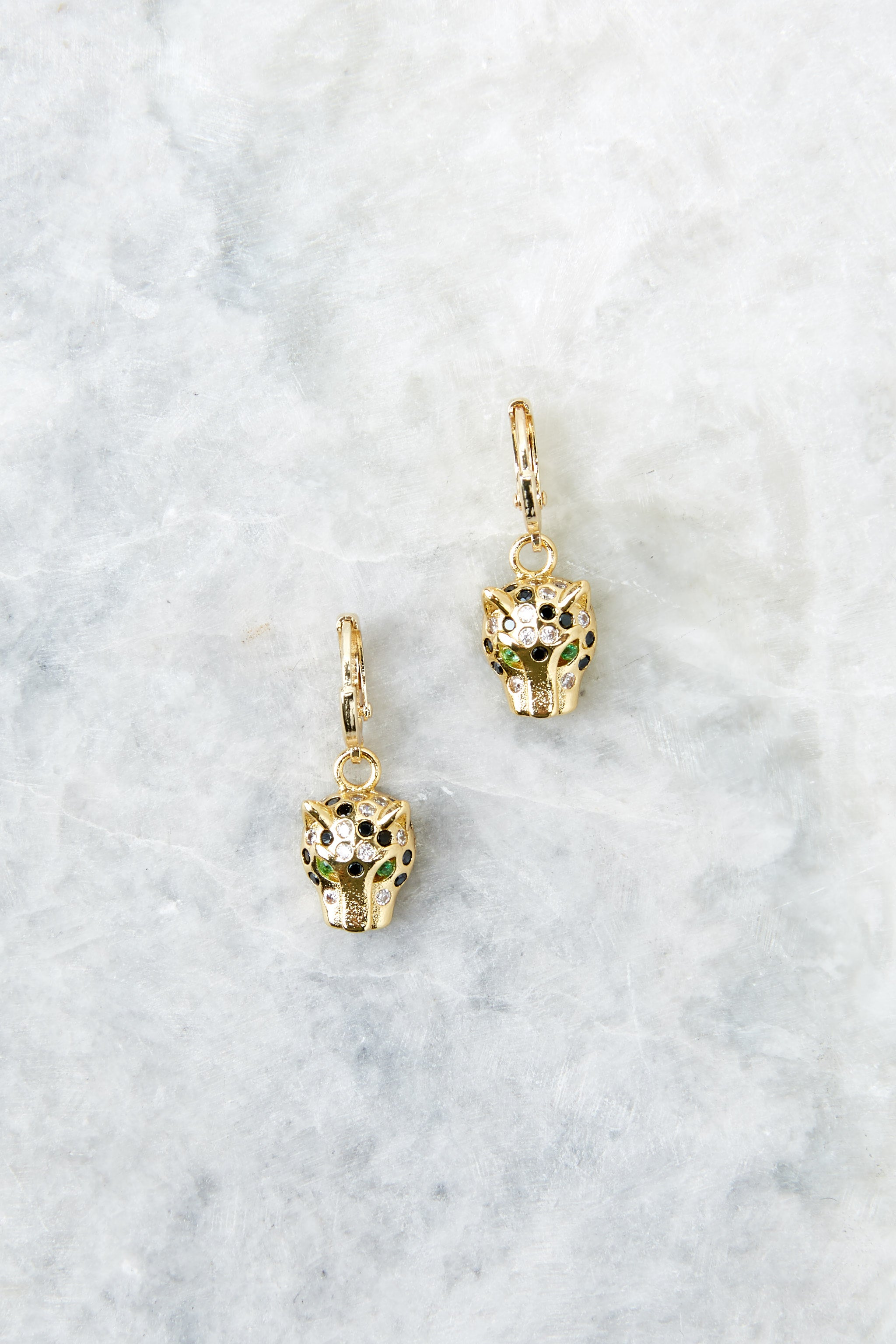 Jaguar Gold Earrings