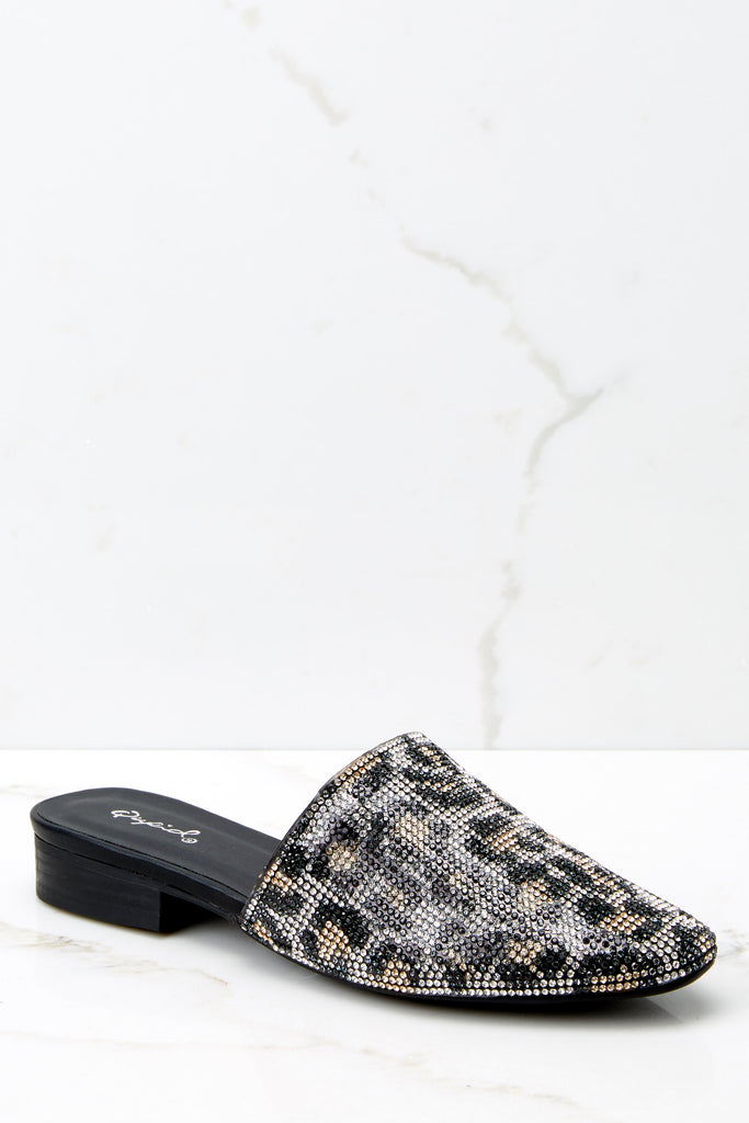 4 Steps Ahead White Studded Loafers at reddressboutique.com
