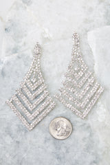 Nice Ice Silver Statement Earrings