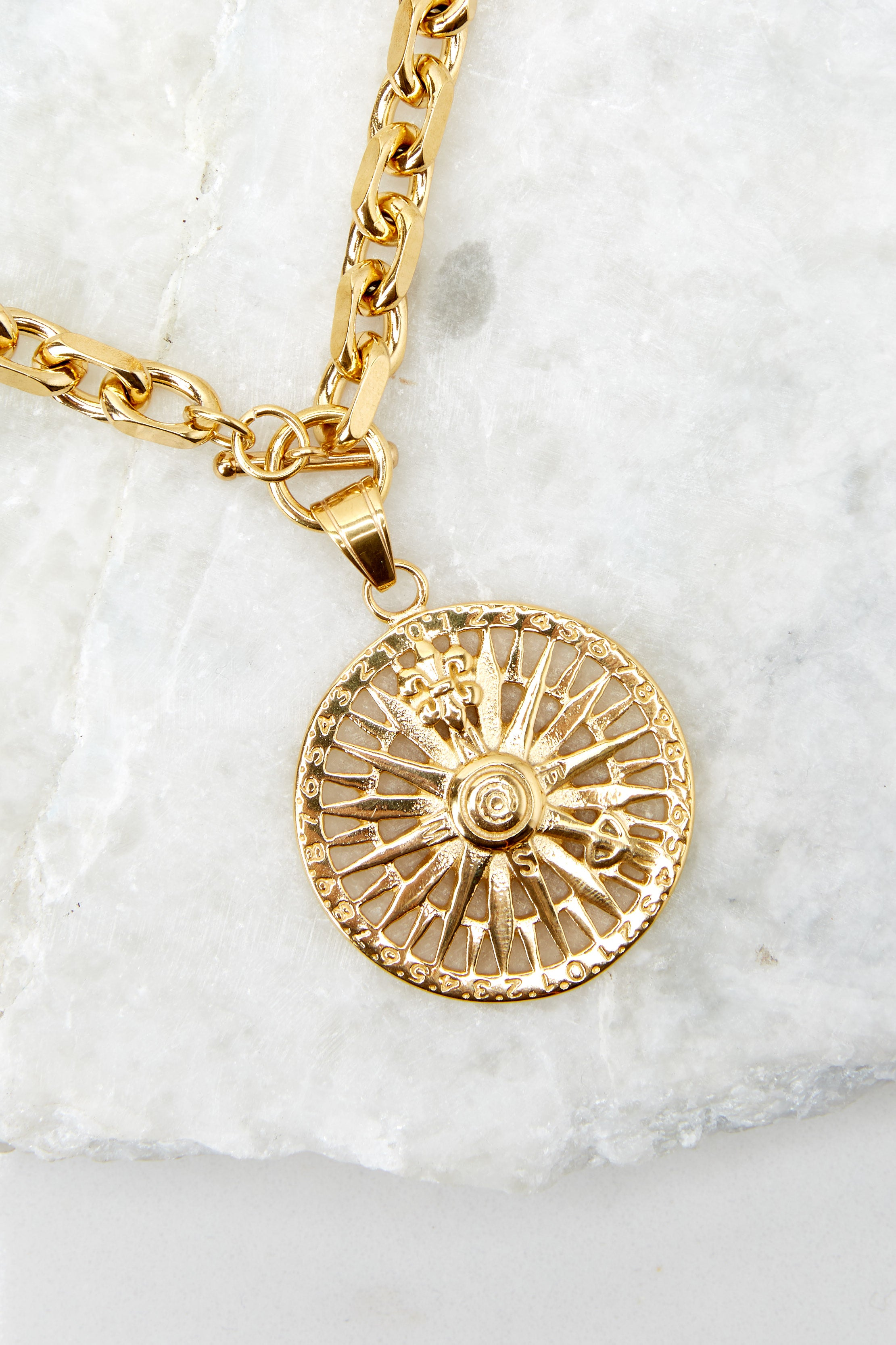 My Compass Gold Necklace