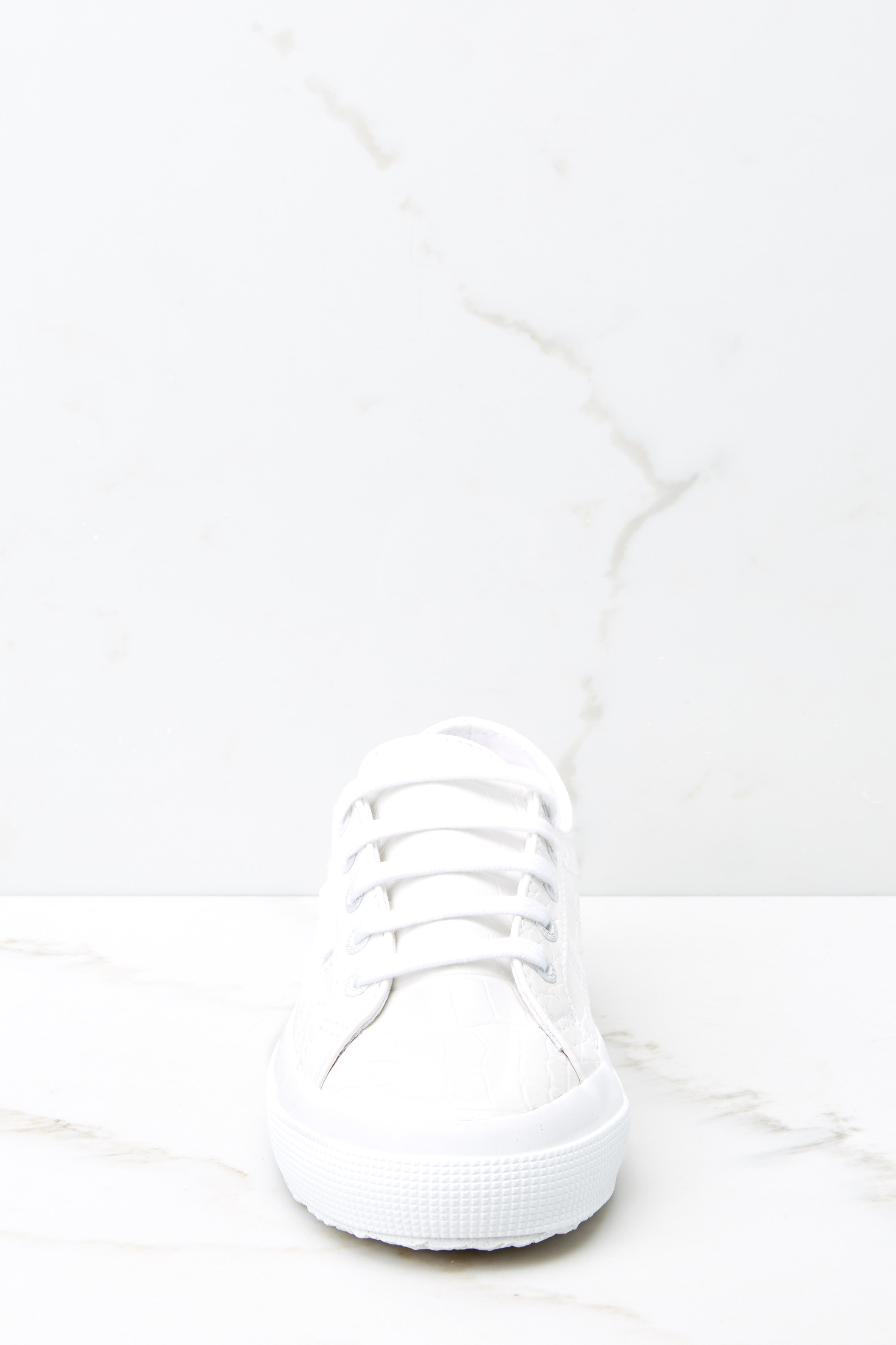 3 2750 Synthetic White Crocodile Sneakers at reddressboutique.com