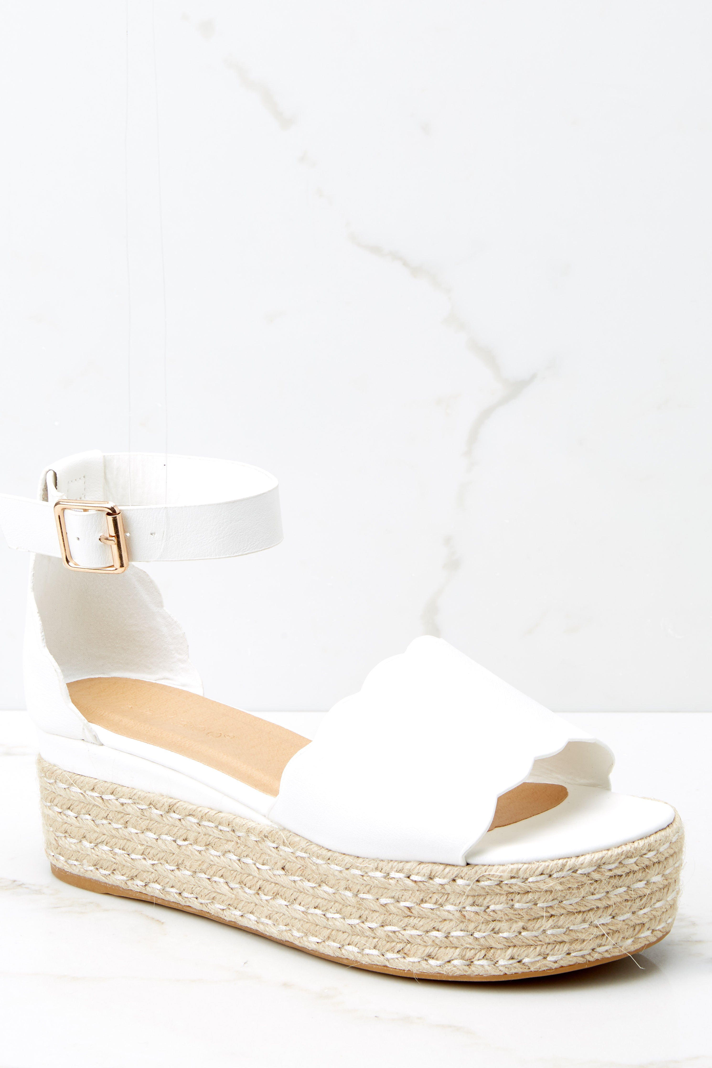 2 Whatever Whenever White Flatform Sandals at reddress.com