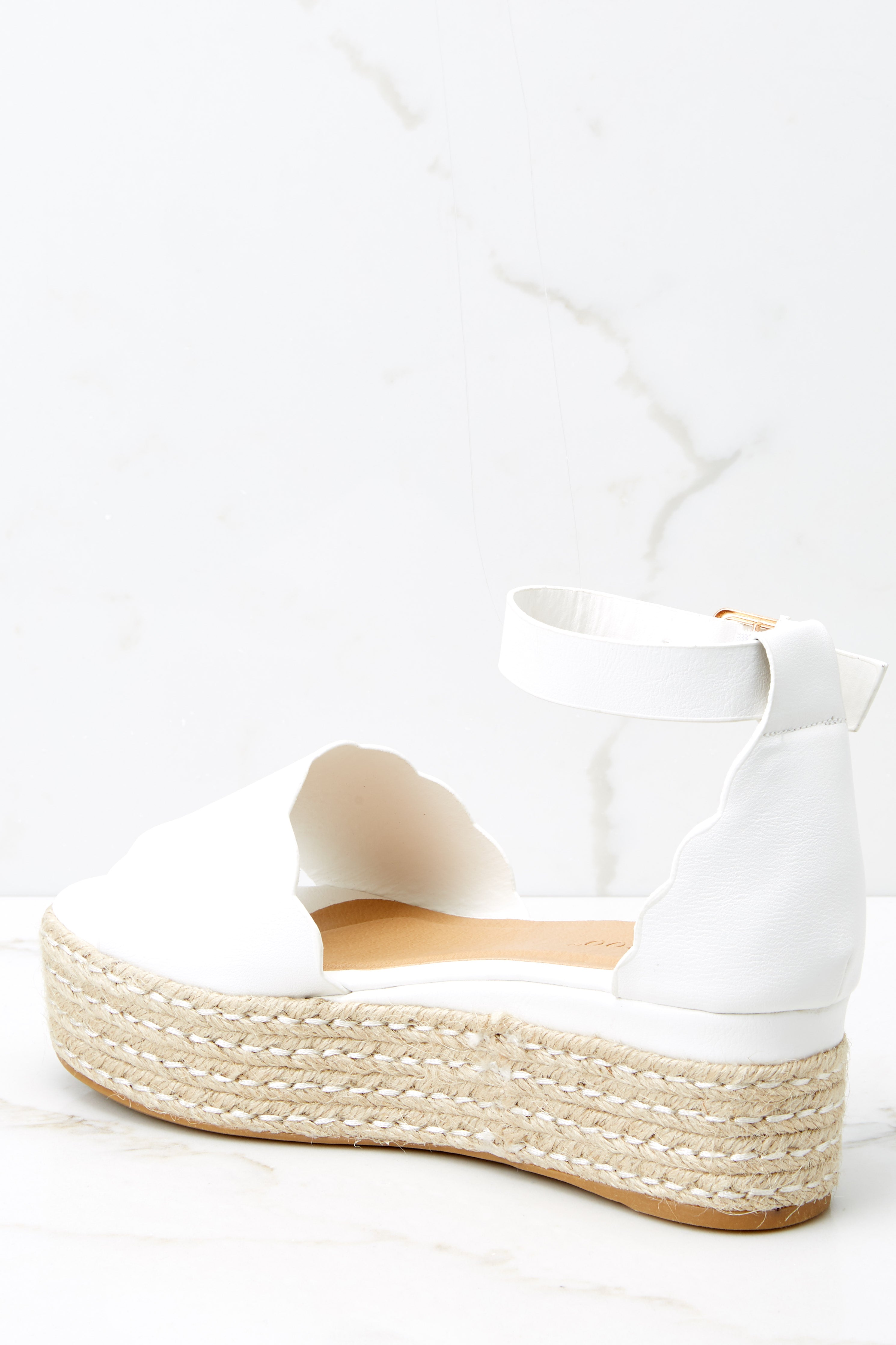 4 Whatever Whenever White Flatform Sandals at reddress.com