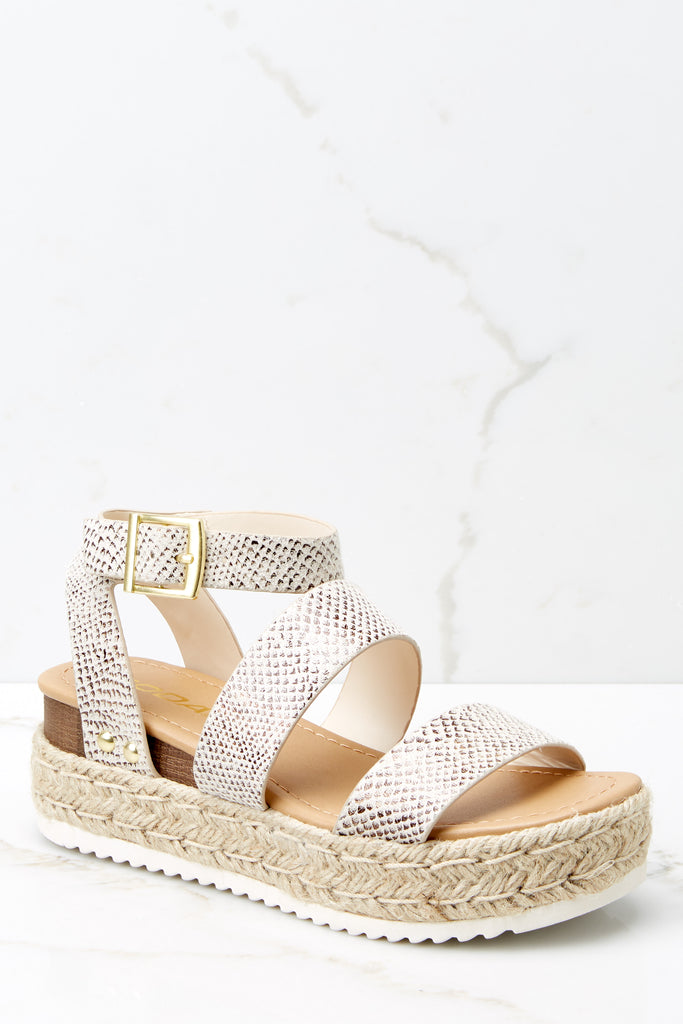 4 Snakeskin Noor Wedges at reddress.com