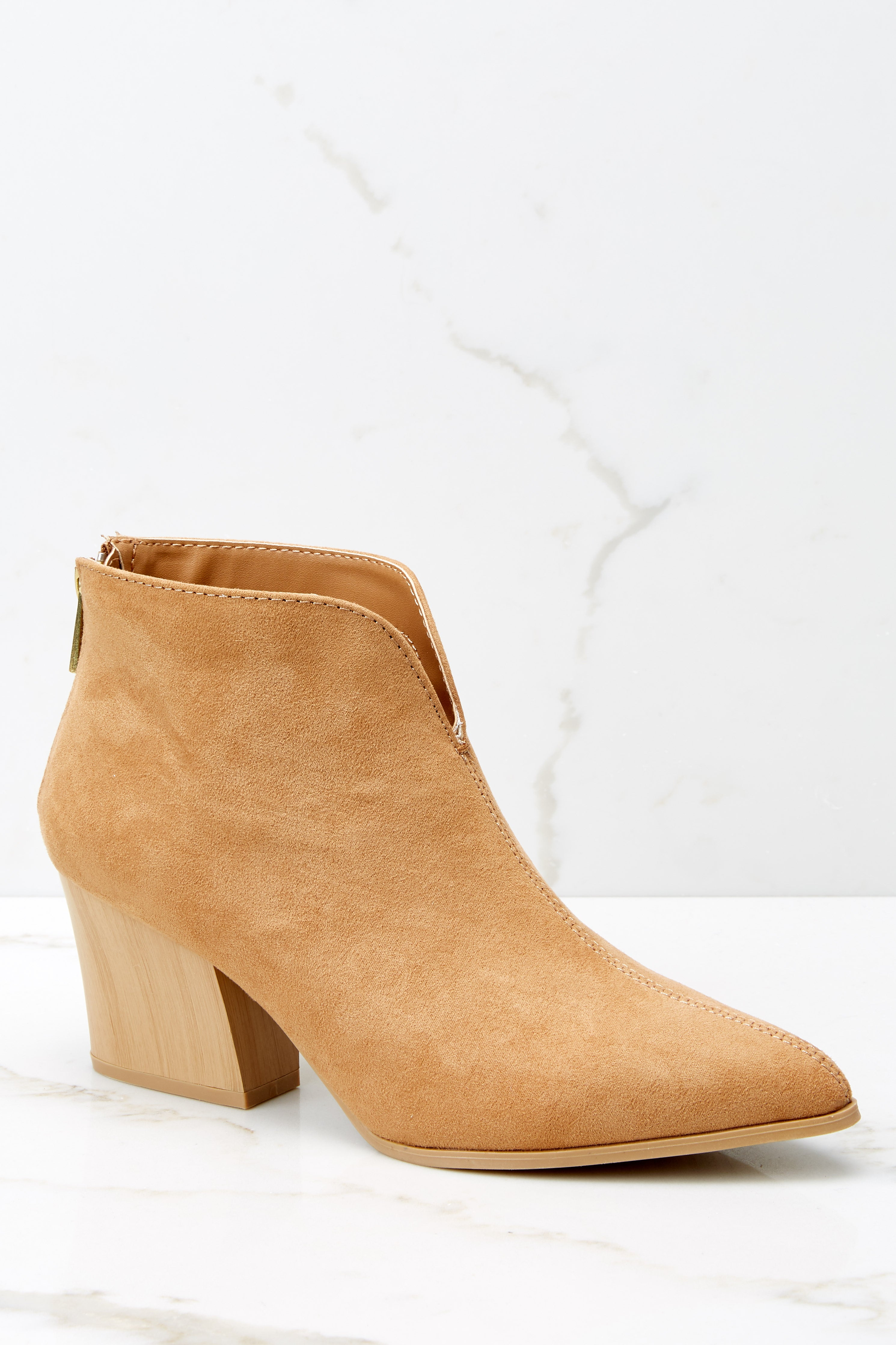 5 Photo Finish Tan Ankle Booties at reddress.com