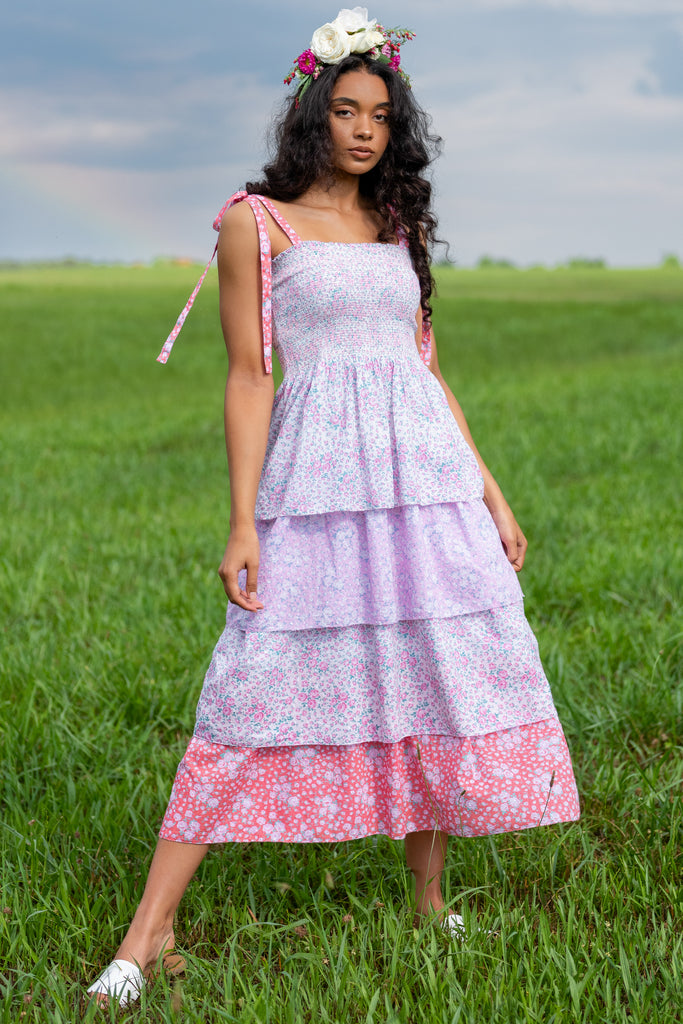 1 Lupita Fuchsia Hand Dye Dress at reddress.com