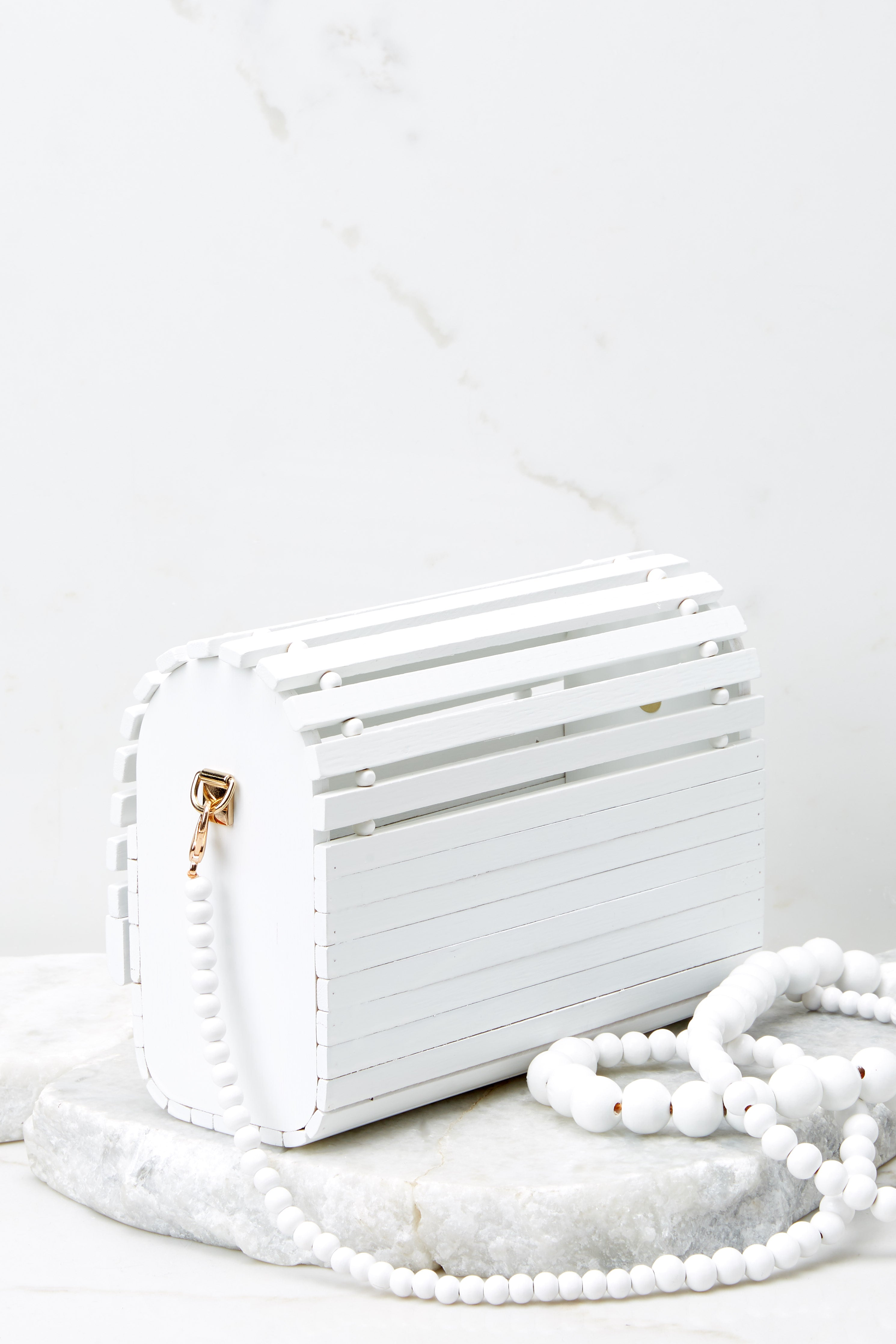 Take It With You White Bamboo Bag