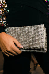 5 It's A Date Silver Clutch at reddressboutique.com