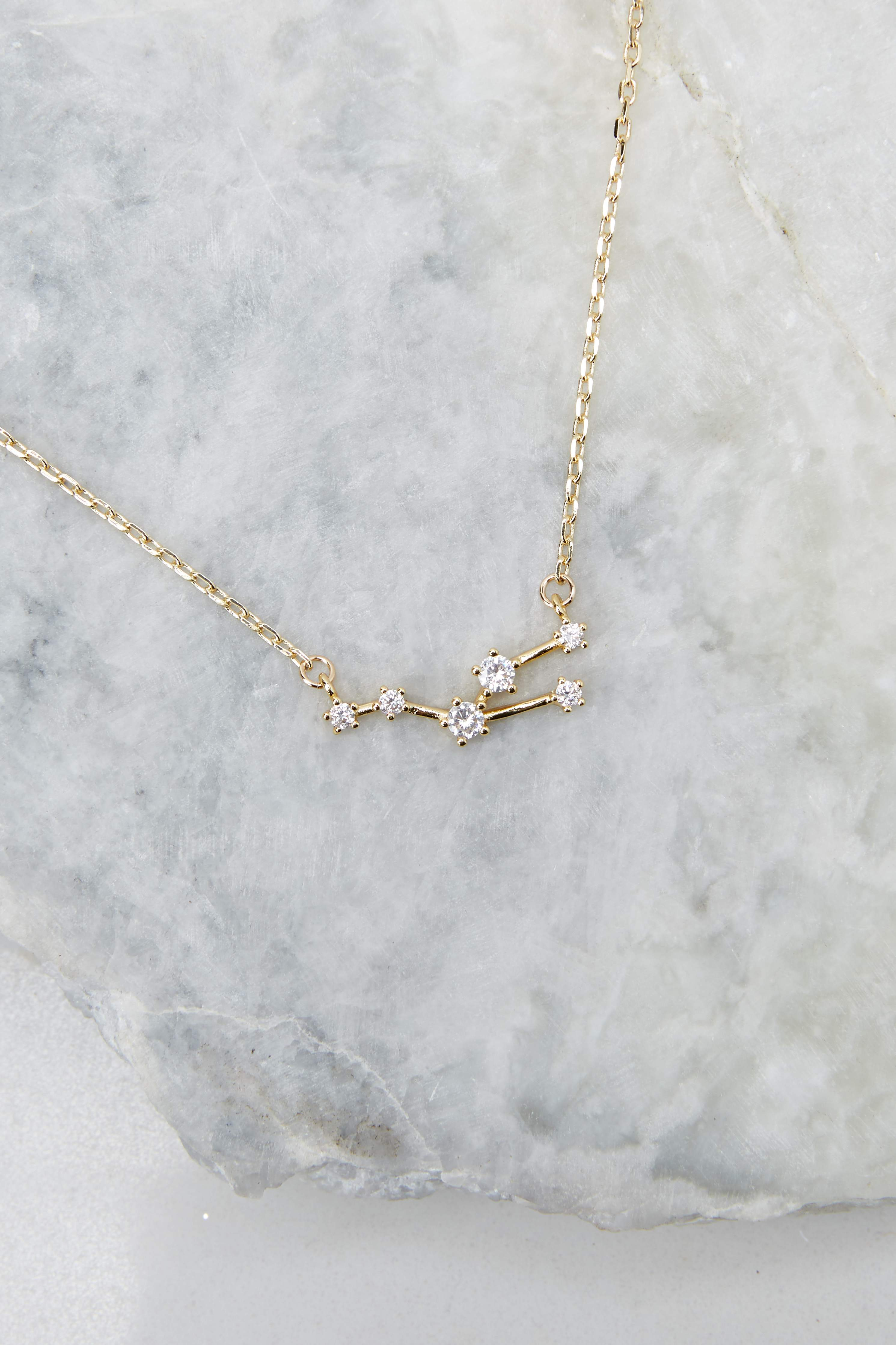 The Stars Aligned Taurus Zodiac Gold Necklace