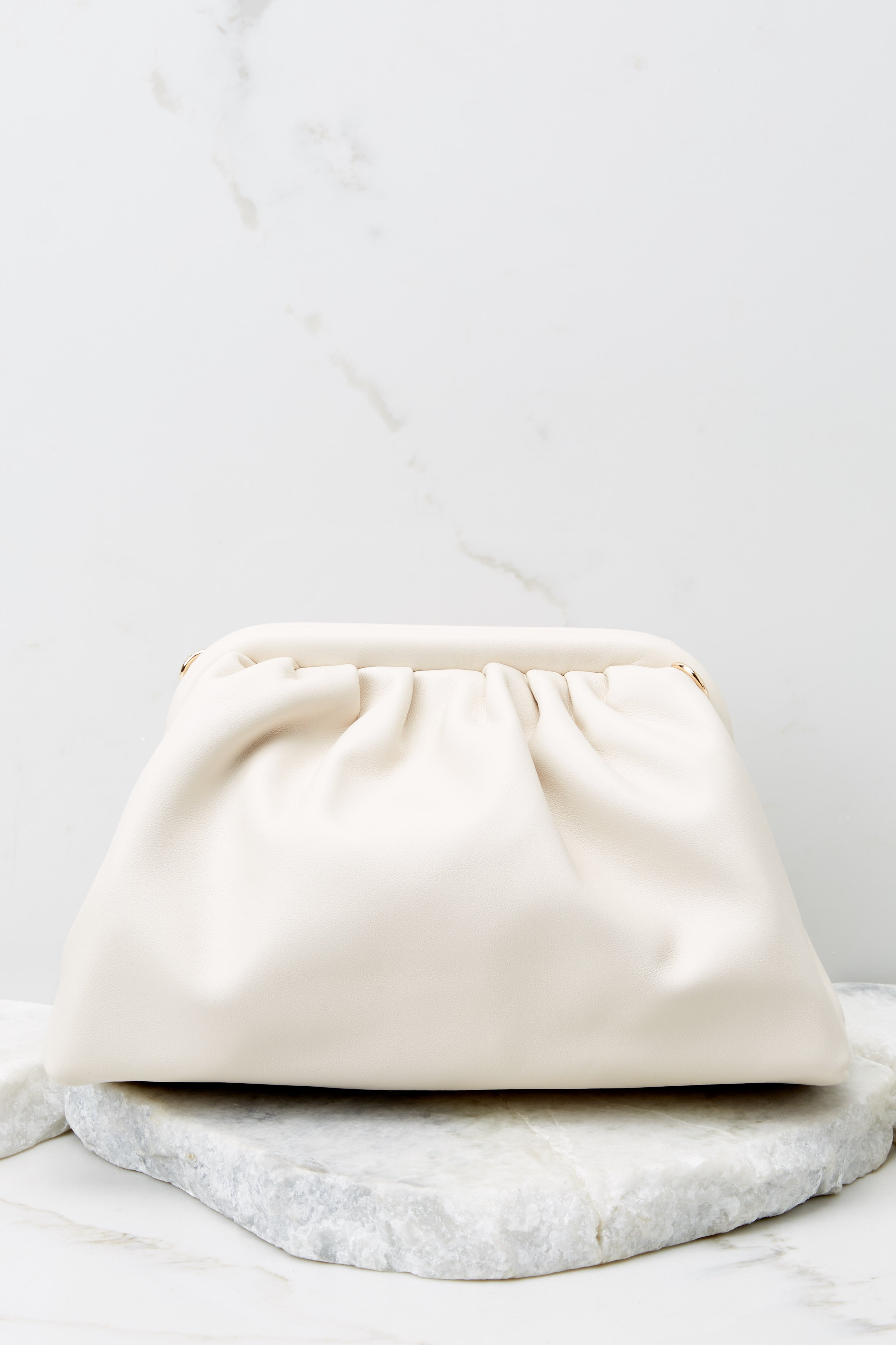 A Rare Gem Ivory Vegan Leather Crossbody Bag