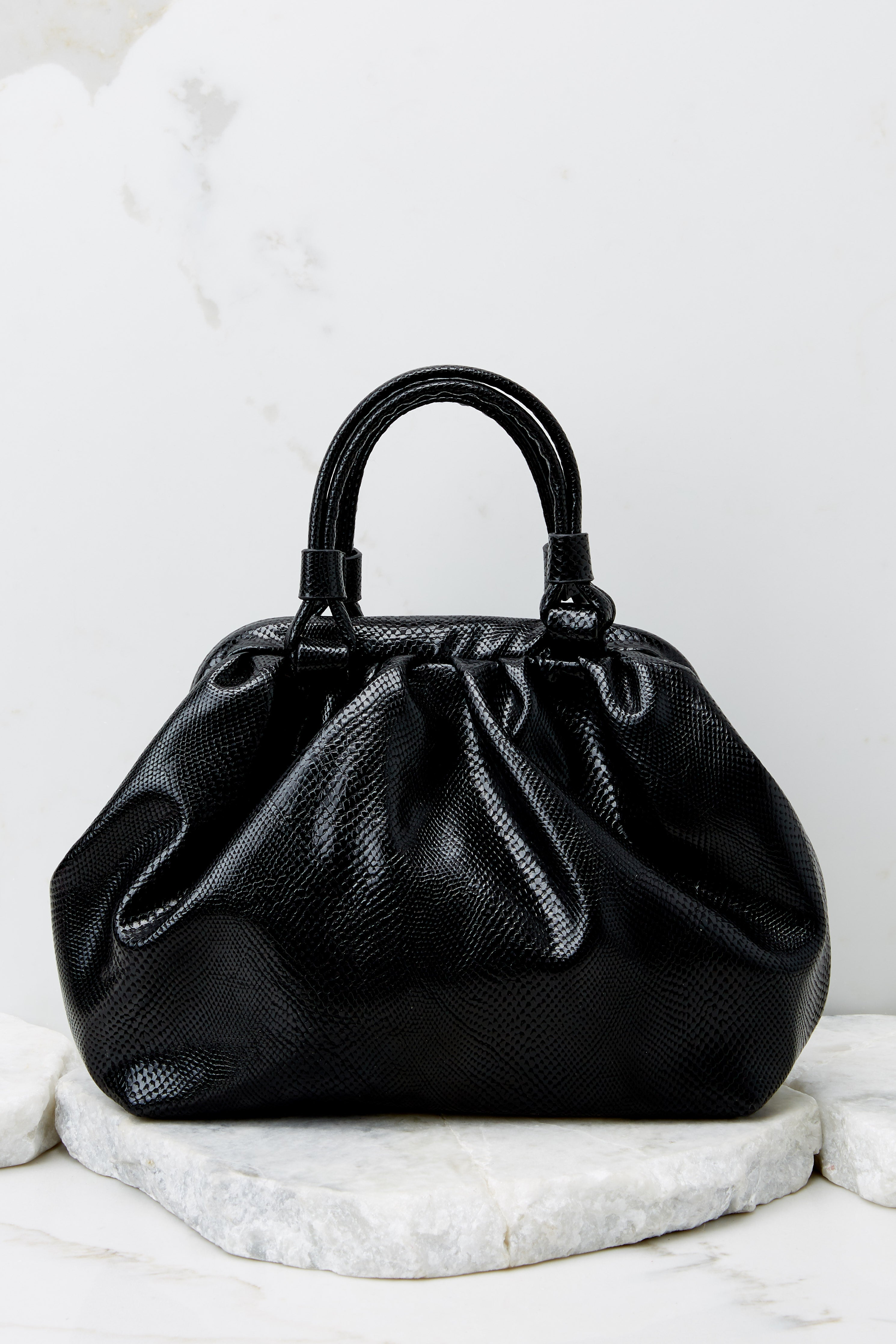 4 No Easy Catch Black Vegan Leather Crossbody Bag at reddress.com