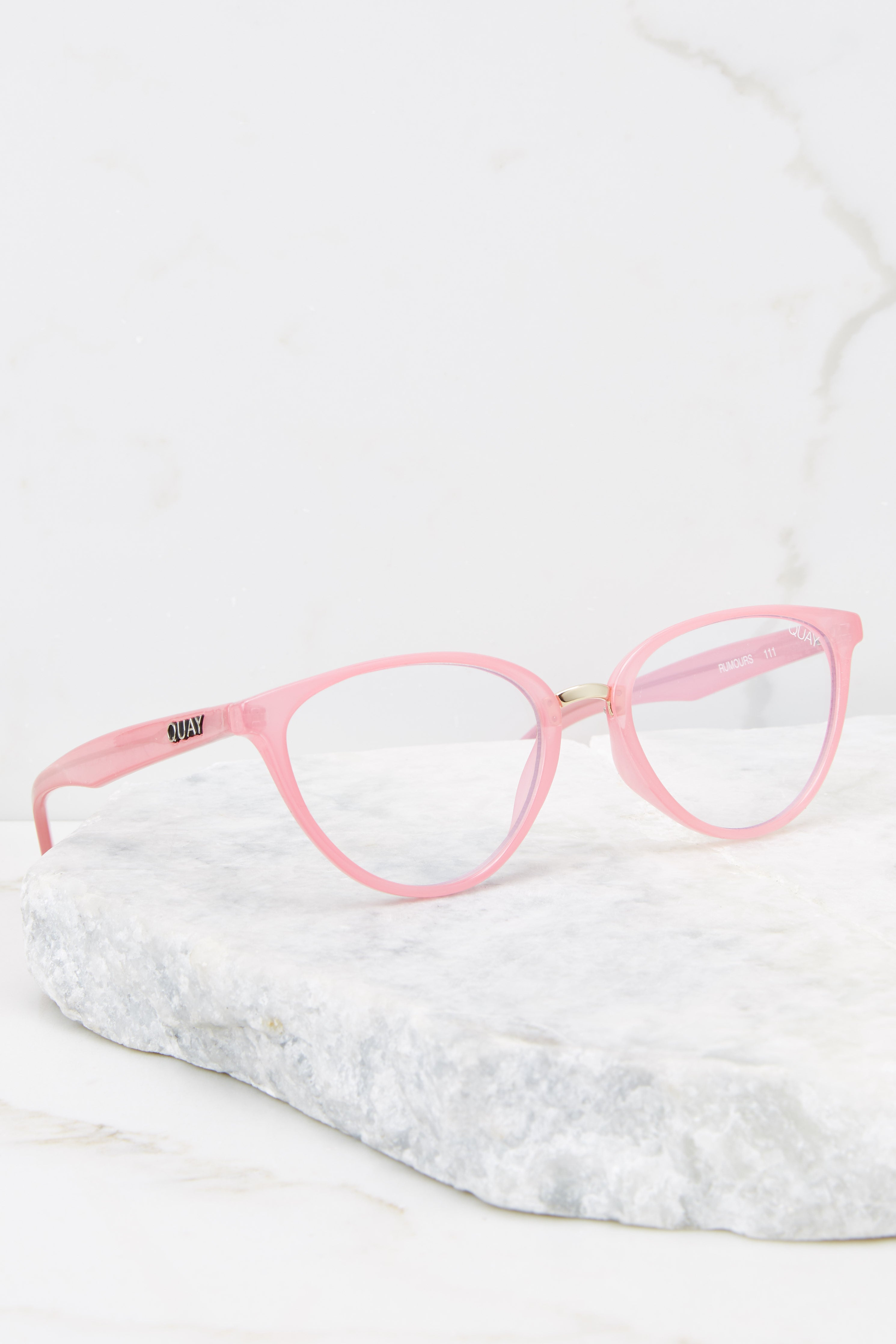 Rumours Pink Clear Blue Light Glasses