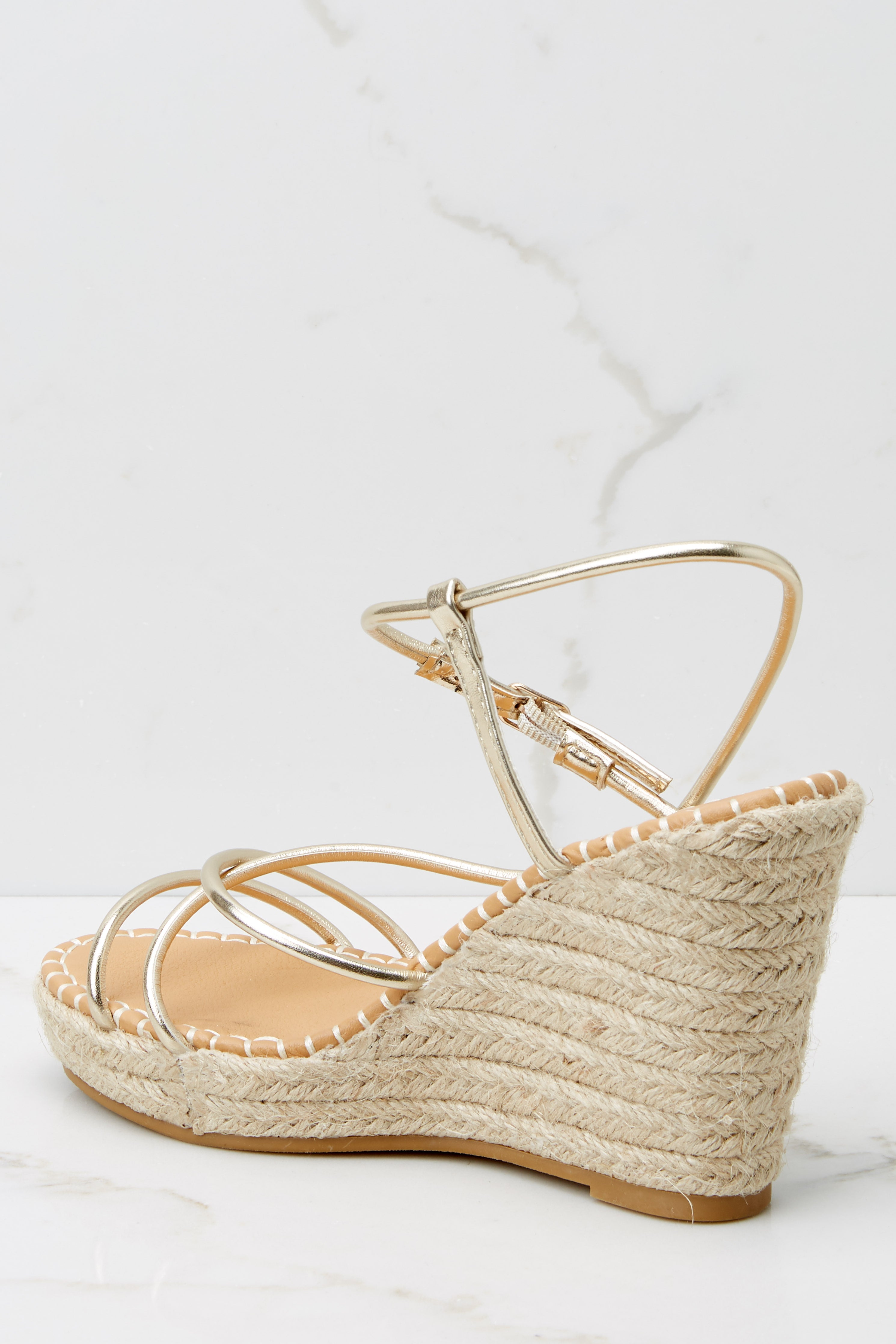 6 Minutes To Midnight Gold Wedges at reddress.com