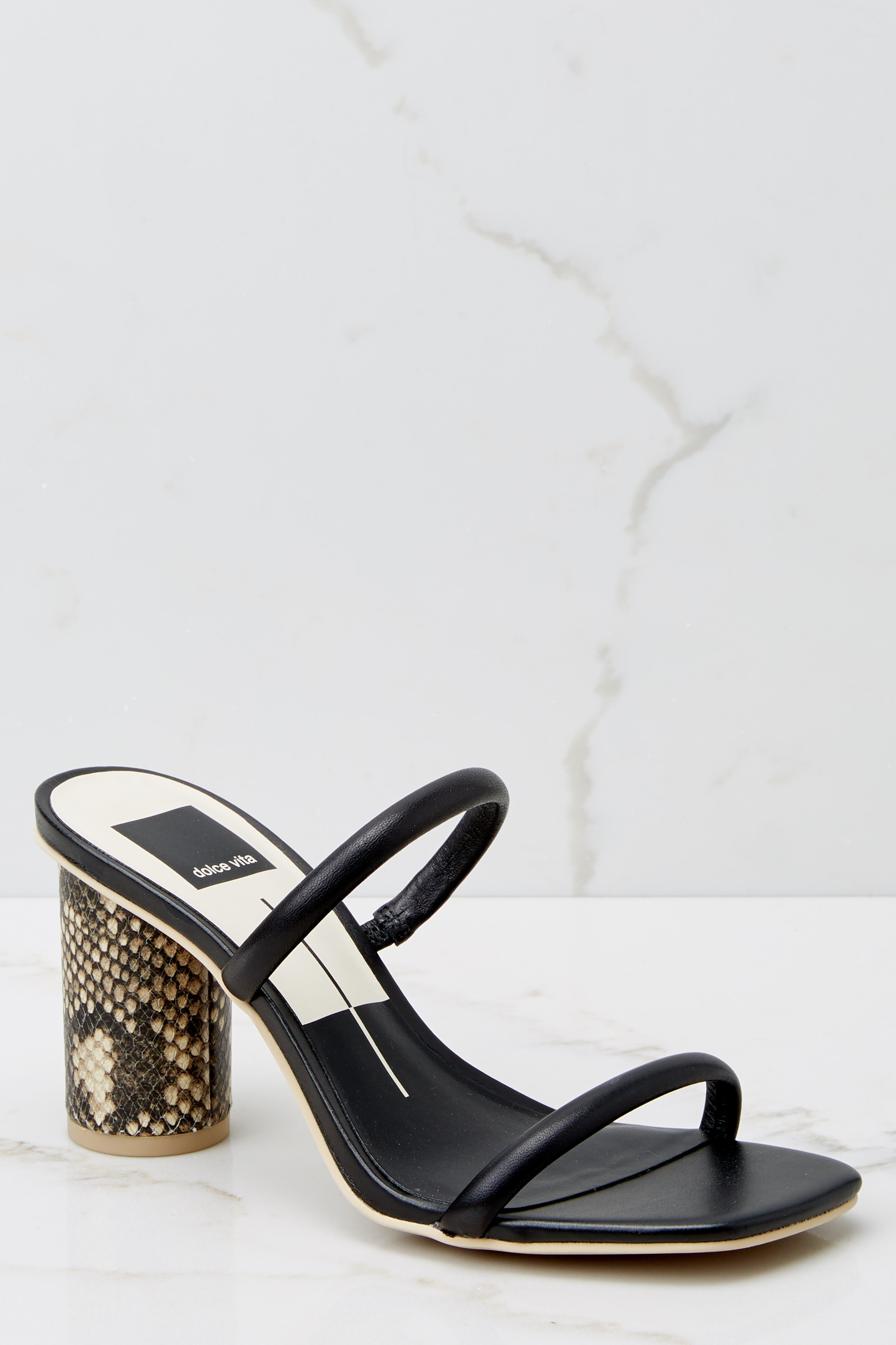 3 Noles Black Snakeskin High Heel Sandals at reddress.com
