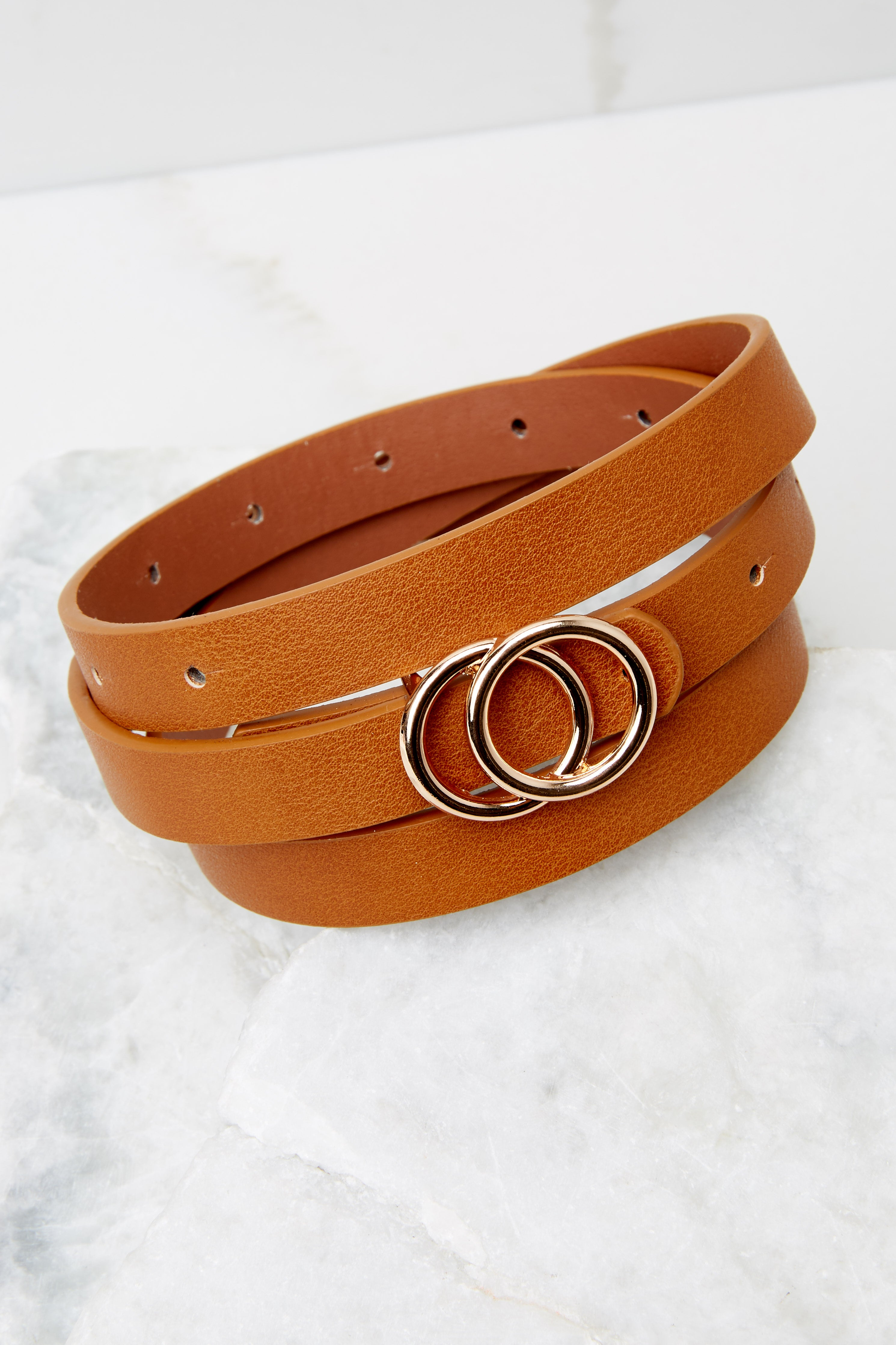 2 All Alright Cognac Belt at reddress.com