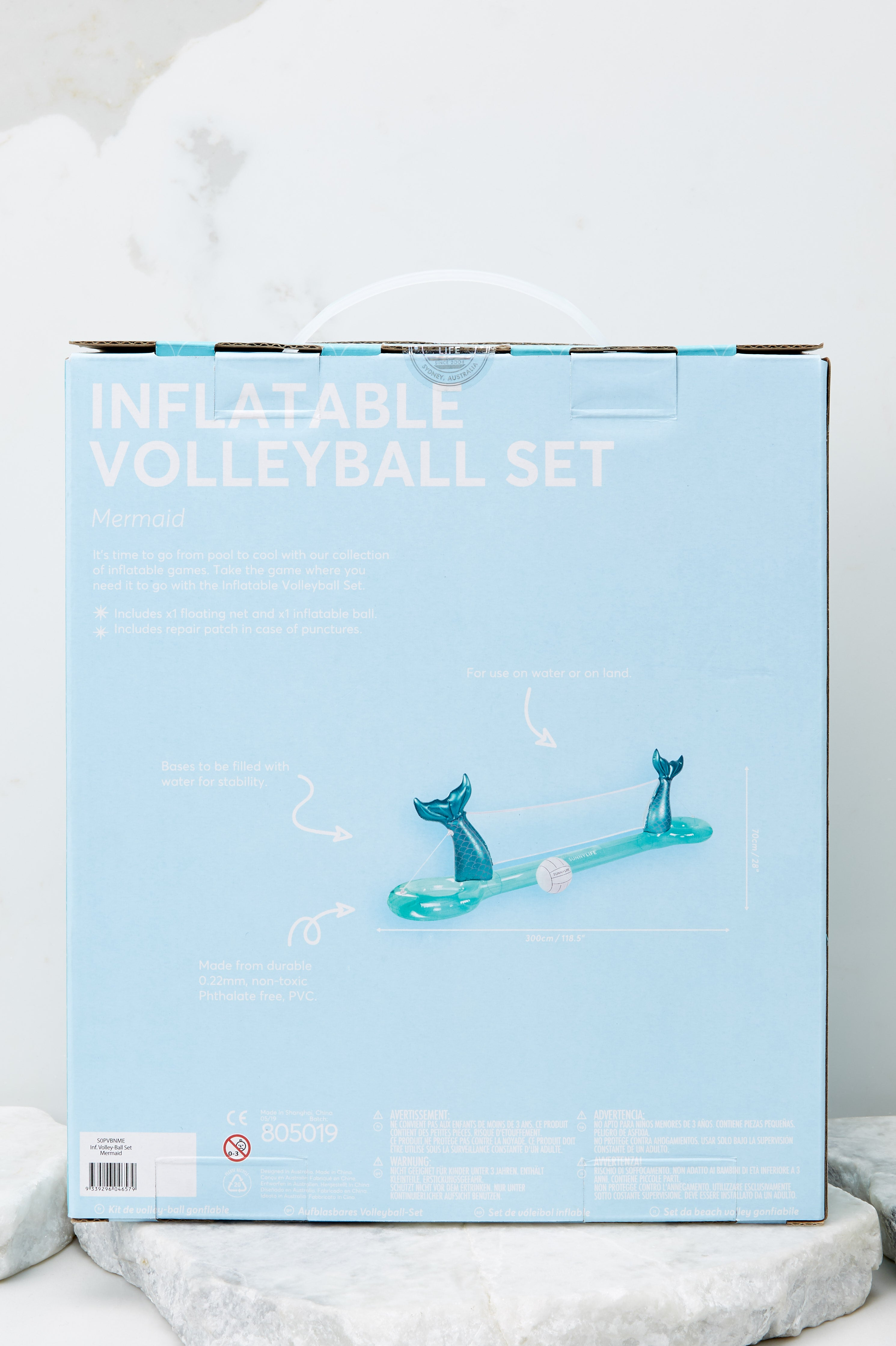 8 Mermaid Inflatable Volleyball Set at reddress.com