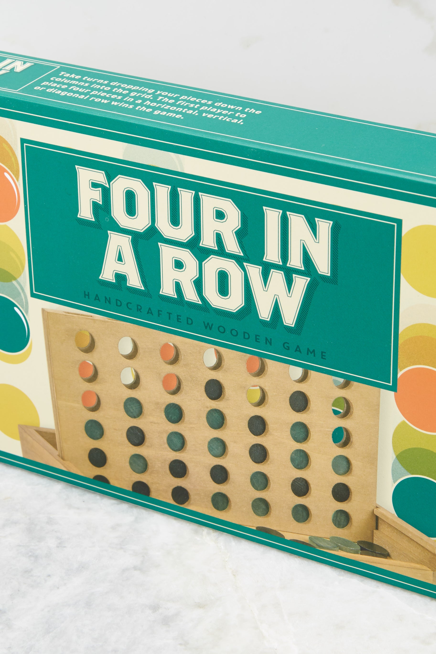 4 Four In A Row Wooden Game @ reddress.com