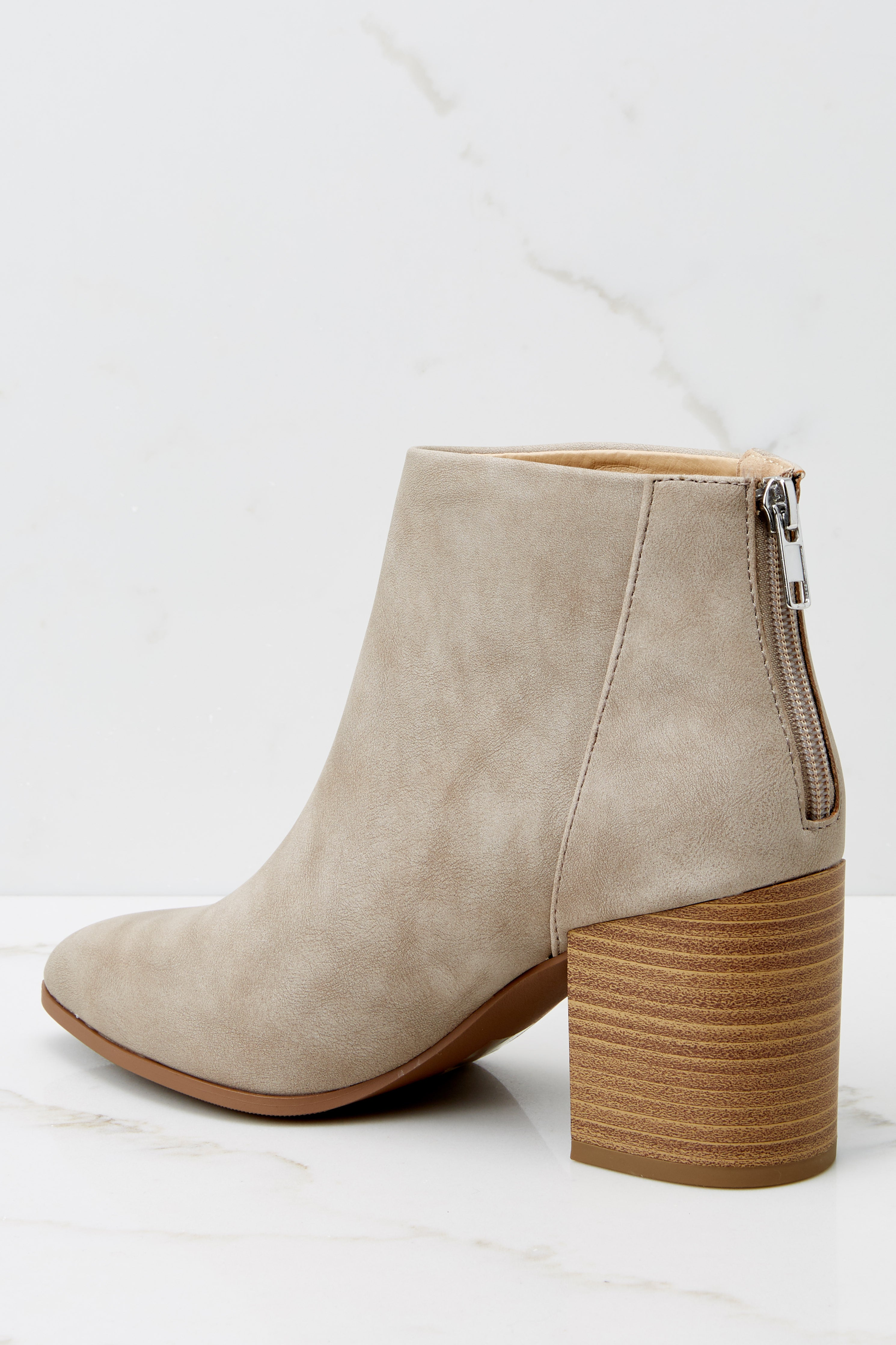 6 Finding Your Voice Taupe Ankle Booties at reddress.com
