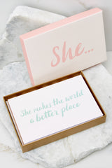 1 She... Note Cards at reddress.com