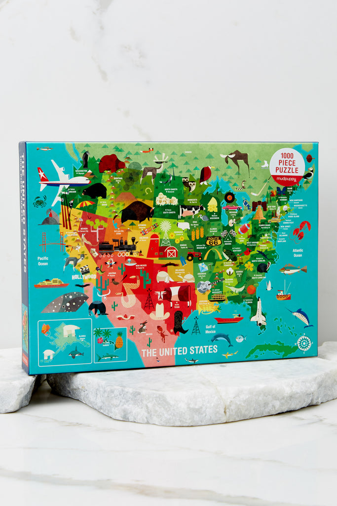 1 USA State Flowers Puzzle at reddress.com