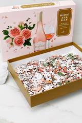 3 Rosé All Day Wine Shaped Puzzle at reddress.com