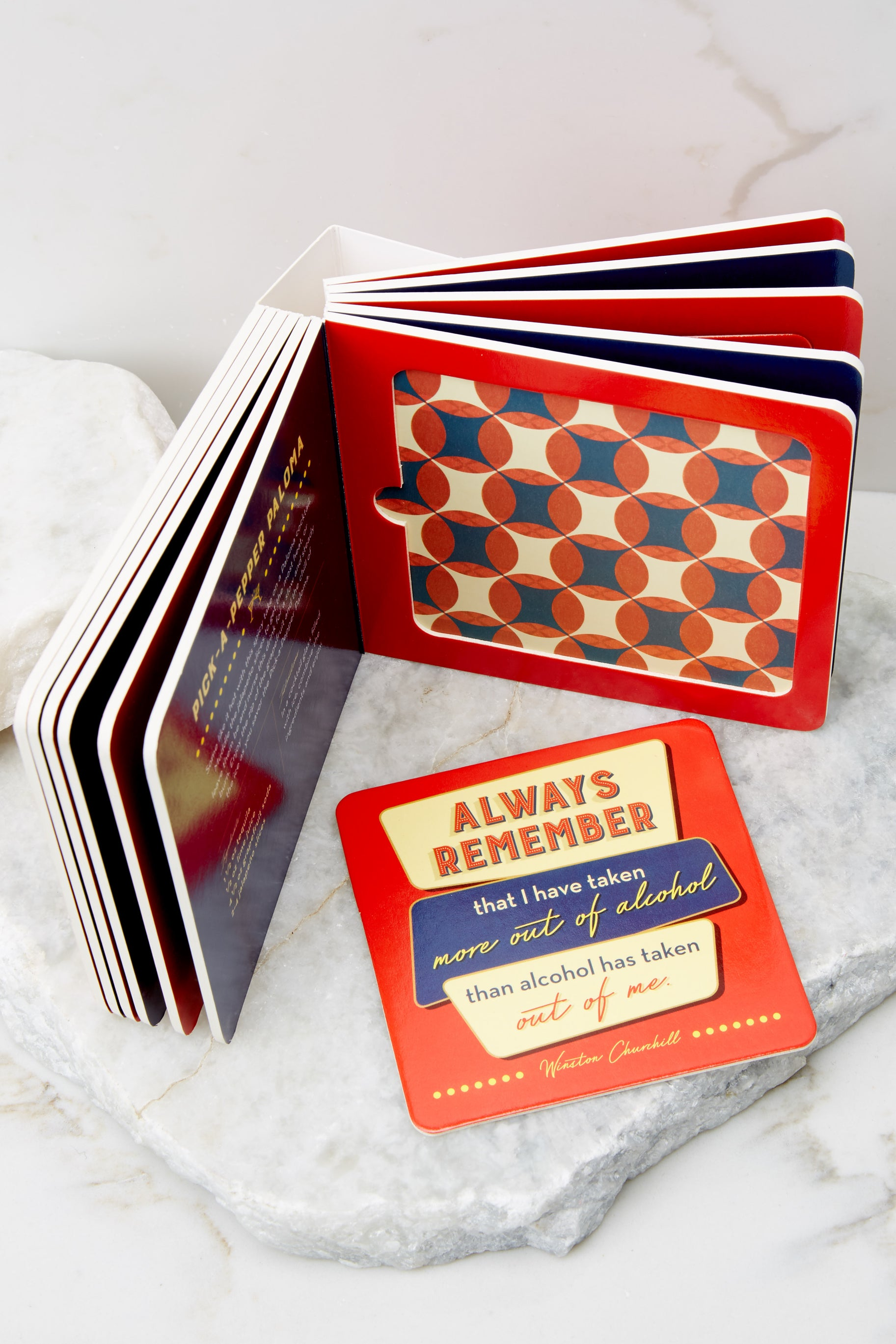 2 Pour Choices Coaster Board Book at reddress.com