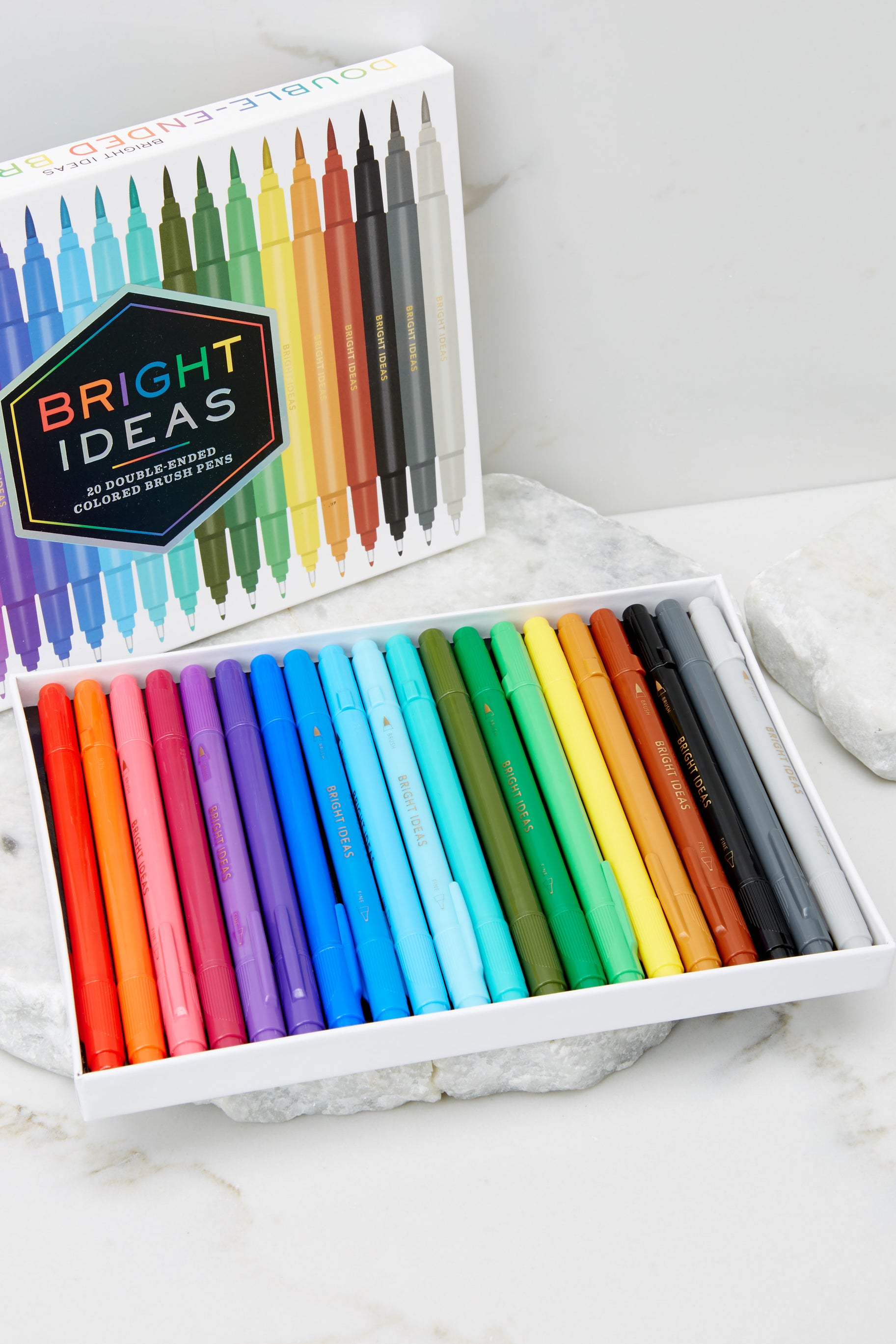 1 Bright Ideas Double-Ended Colored Brush Pens at reddress.com