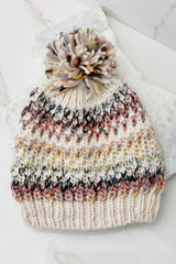 Crisp Mornings Coral Multi Knit Hat