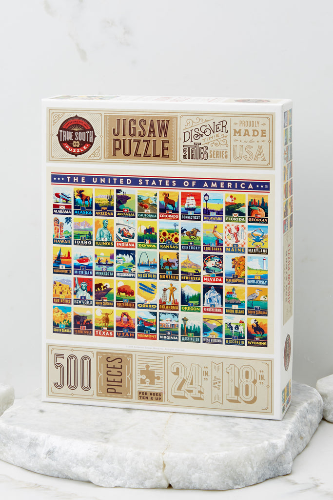 1 Classic Christmas Movie Map Jigsaw Puzzle at reddress.com