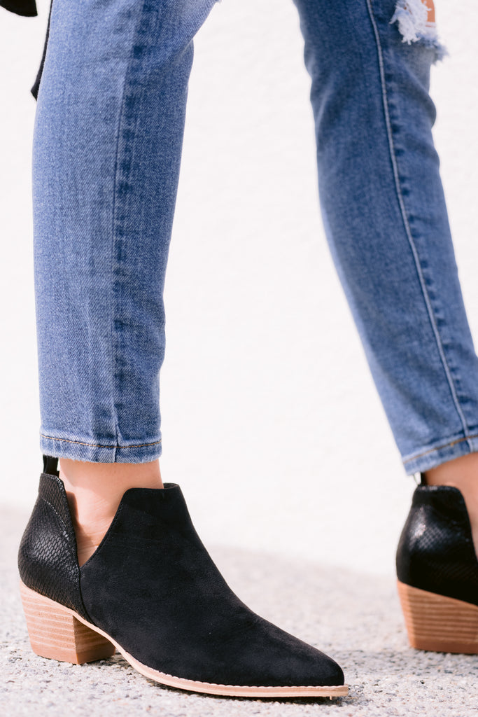 1 Walking By Black Ankle Booties at reddress.com