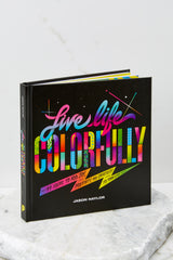 1 Live Life Colorfully Book at Red Dress