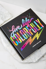 6 Live Life Colorfully Book at Red Dress