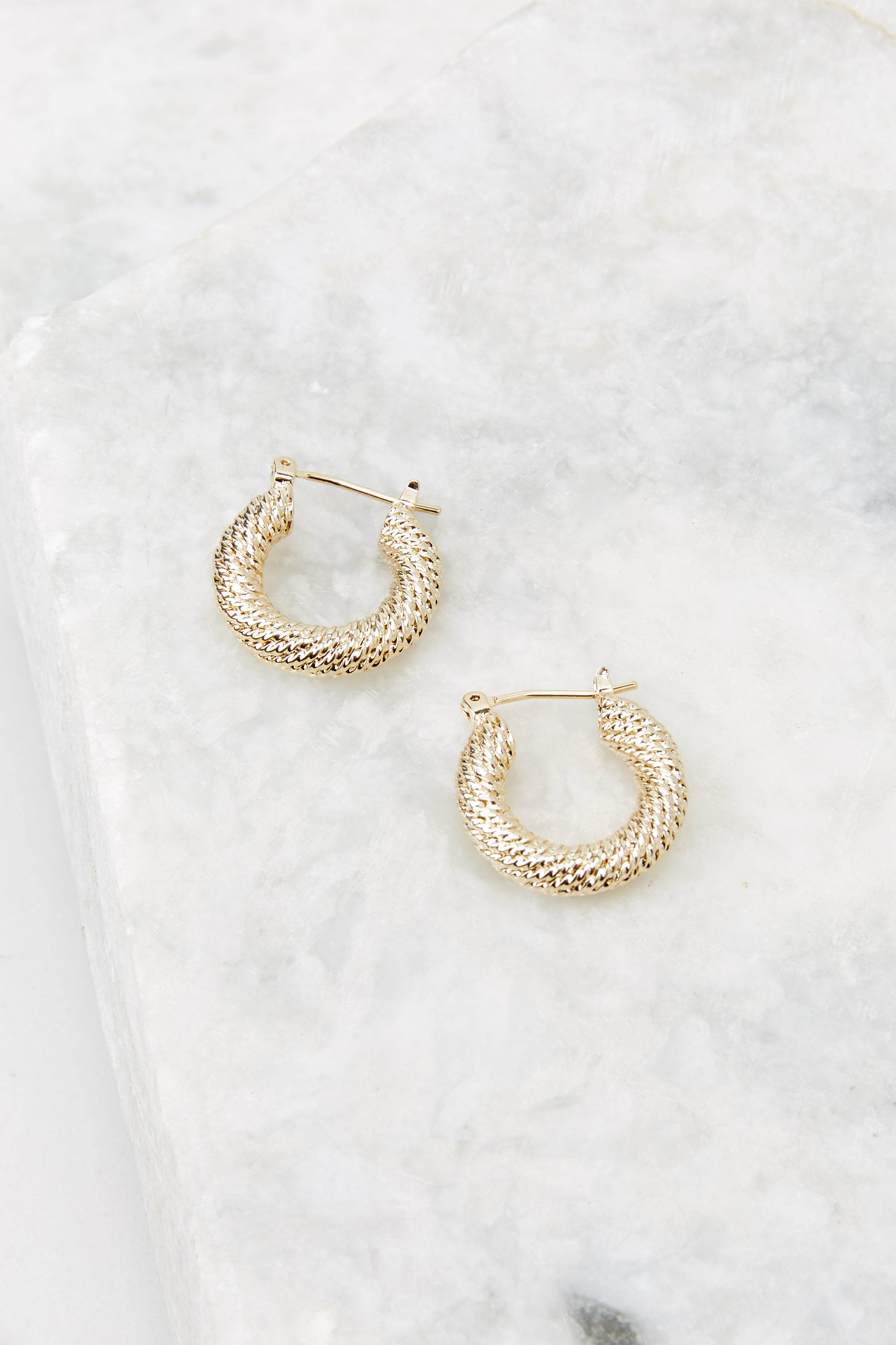 3 The Way Around Small Gold Hoops at reddress.com