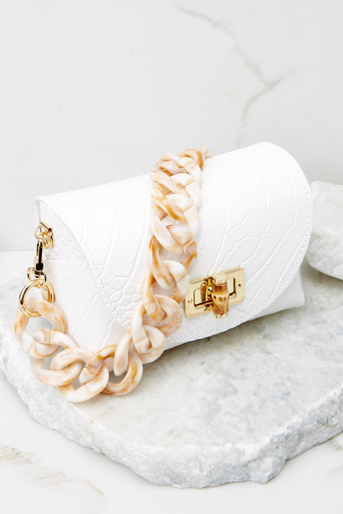 3 Changing it Up Cream Tortoise Chain Strap at reddress.com