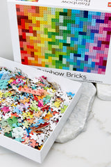 2 Lego® Rainbow Bricks Puzzle at Red Dress