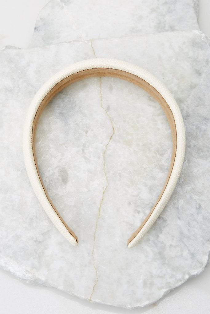 Adorable Ivory Headband - Hair Accessories | Red Dress