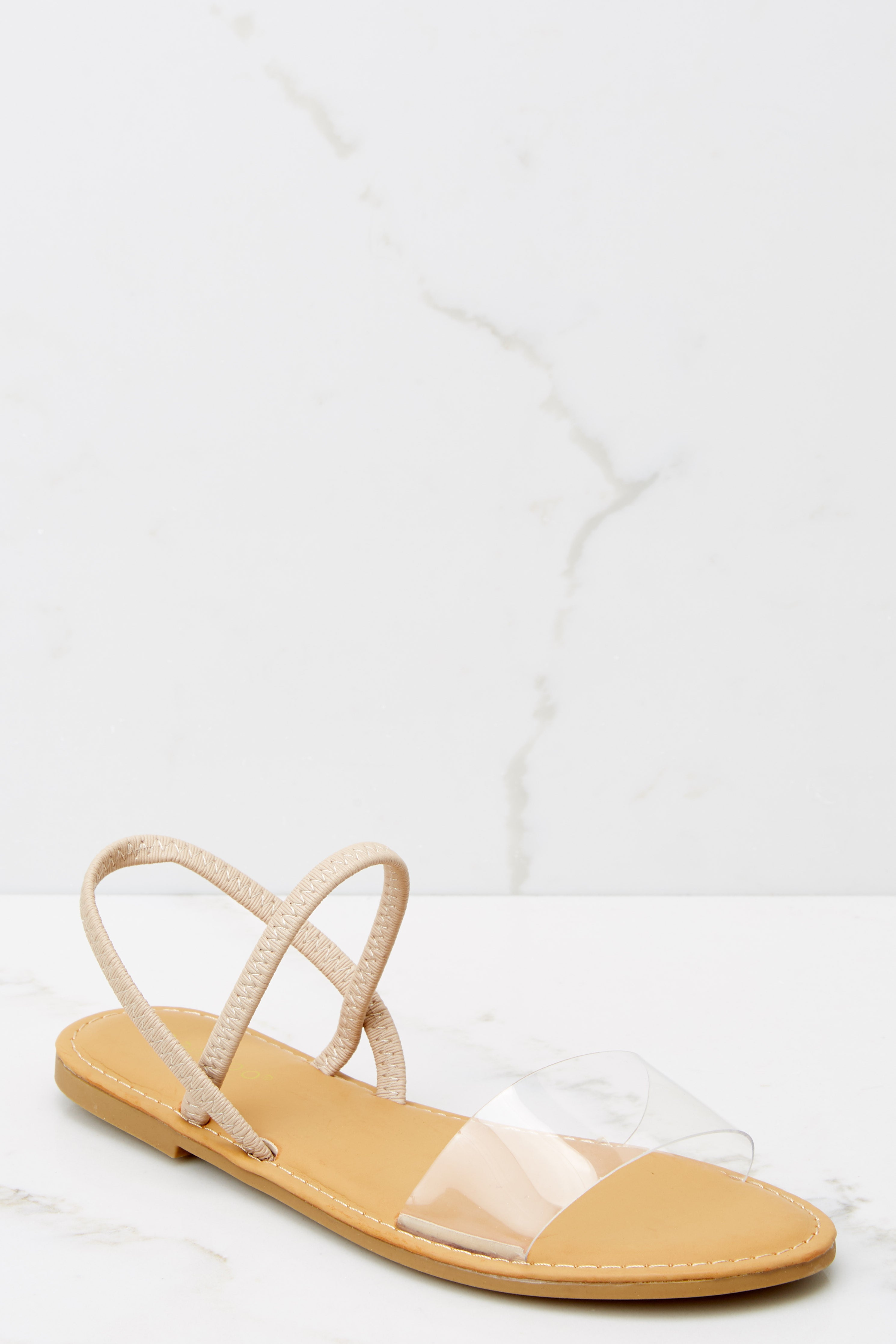 3 One Step Closer Nude Sandals at reddress.com