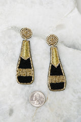 3 Prosecco Nights Black And Gold Beaded Earrings at reddress.com