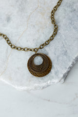 2 Raw And Rebellious Envy Me Gold Pendant Necklace at reddressboutique.com
