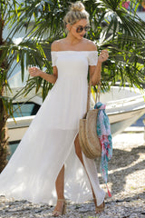 2 Breathe Again White Maxi Dress at reddress.com