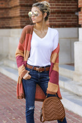 2 Make Your Mind Up Orange Multi Stripe Cardigan at reddress.com