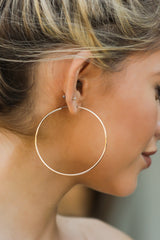 5 Beyond Reason Gold Hoop Earrings at reddressboutique.com
