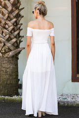 6 Breathe Again White Maxi Dress at reddress.com