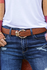1 Experience It All Tan Belt at reddressboutique.com