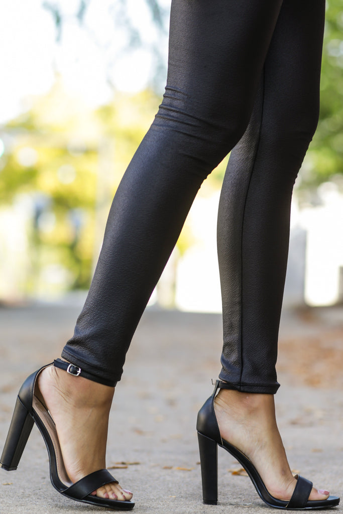 1 Head To Toe Black Pointed Pumps at reddressboutique.com