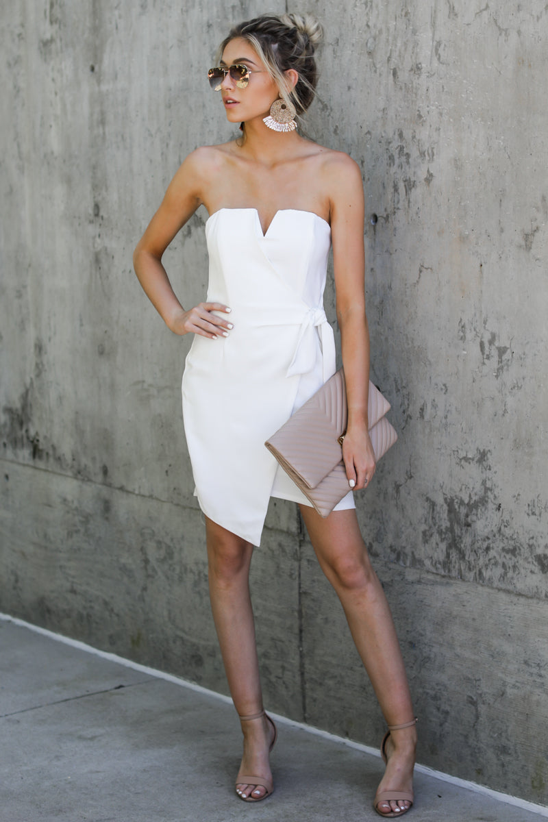 7 Worth Everything White Dress at reddressboutique.com